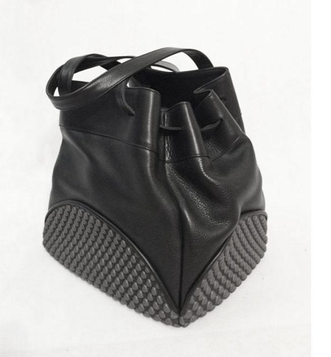 Tissa Fontaneda Half Moon Tote Handbag