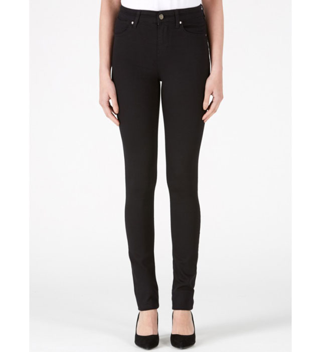 Donna IDA Rizzo the High Top Ankle Skinny in Blackest