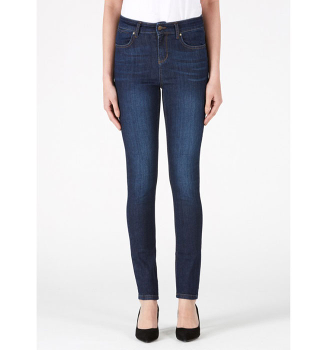 Ida Jeans Ivy the High Top Skinny 50's Monroe in Grainy Denim