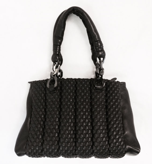 Tissa Fontaneda Europa Bag with Horn Chain Handle in Black B44