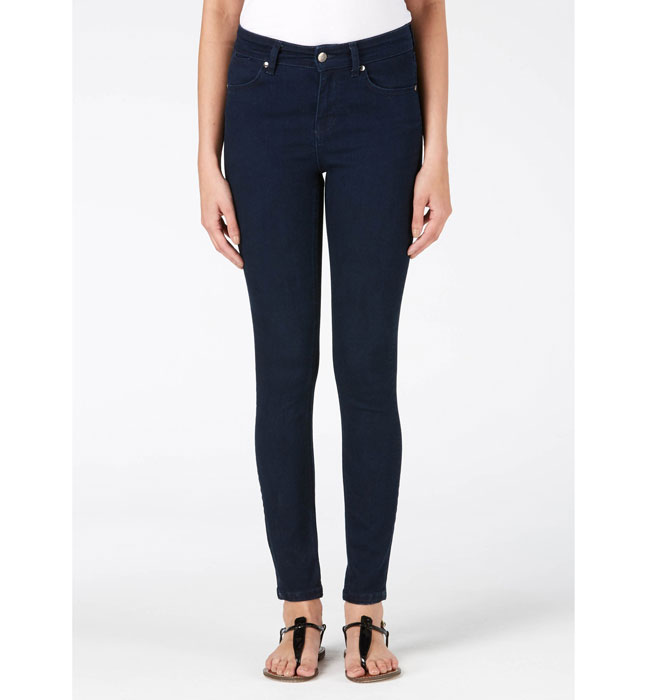 Donna Ida RIZZO HIGH TOP ANKLE SKINNY JEANS - DEEP SEA