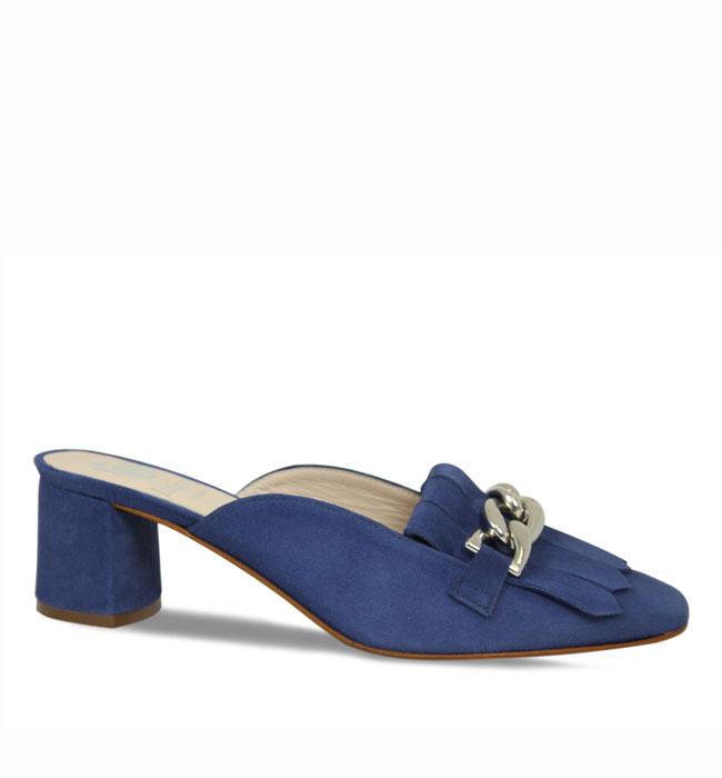 Lisa Kay Isha Jeans Suede Flats