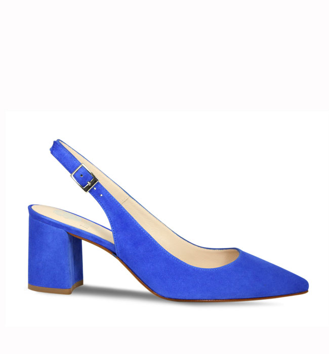 Lisa Kay London Paris Electric Blue Suede Heels