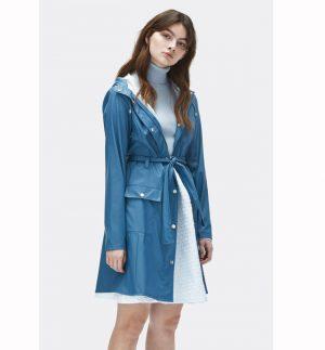 Rains Curve Jacket Faded Blue