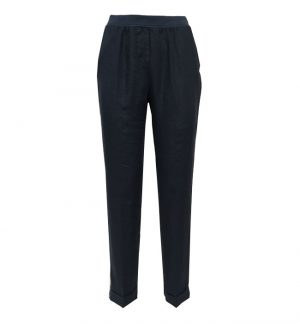 Rosso35 Navy Linen Trousers N861P/6000/752