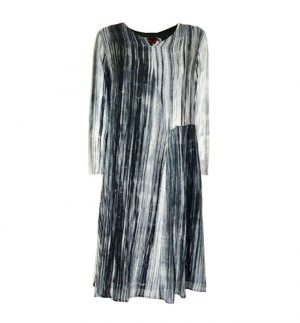 Bianco Levrin Tiedye Rain Dress in Black LT1701 T559/ERA