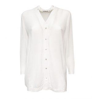 Transit Par Such White Linen Blouse CFDTRE3382-00