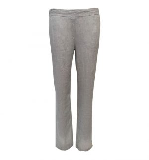 Brax Mareen Wide Leg Linen Trousers in Light Grey 78-2207/09