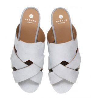 Hudson Lonatu Suede Grey Sandal