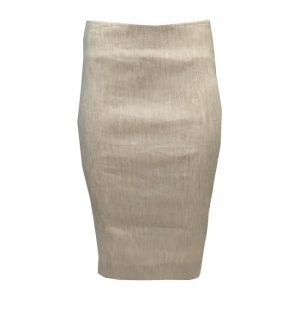Sylvia Heise Beige Stretchy Skirt 31968-05