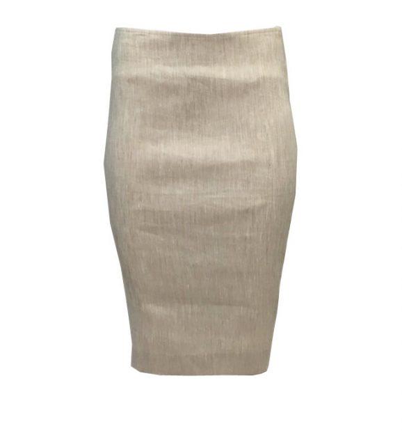 Sylvia Heise Beige Stretchy Skirt 31968-05