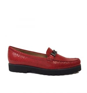 Lisa Kay Constance Red Snake Skin Loafer