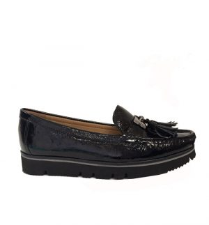 Lisa Kay Enid Black Patent Loafer