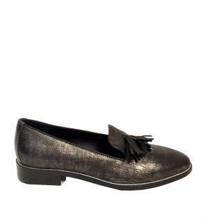 Lisa Kay Isla Hard Leather Loafers in Metallic