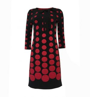 Ana Alcazar Peika Loop Dress Black-Red