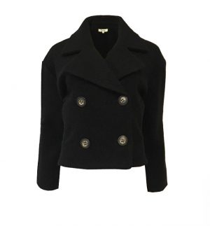 Groa Boiled Wool Jacket in Black 37.16.01-JA