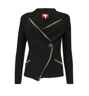 Sylvia Heise Wrap Around Jacket in Black 10079-02