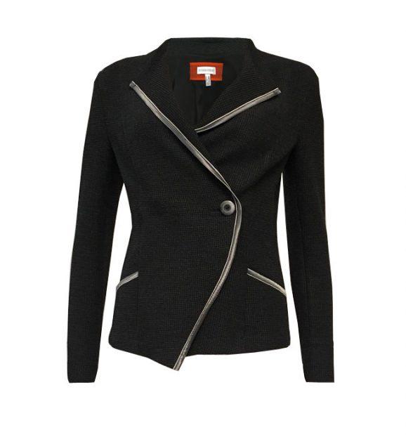 Sylvia Heise Wrap Around Jacket in Black 10079-02