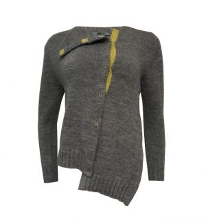 Crea Concept Yellow Insert & Grey Cardigan 28189