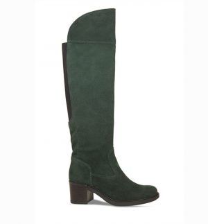 Lisa Kay Chase Bottle Green Suede Boots