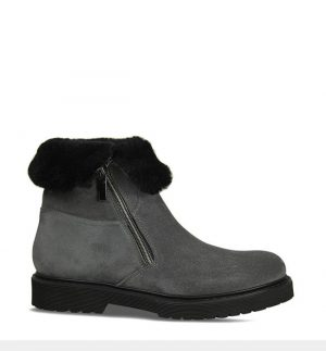 Lisa Kay Larissa Grey Suede Ankle Boots