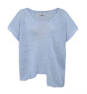 Crea Concept Baby Blue Oversized Knit Top