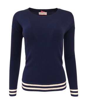 Navy & Vanilla Stripe Jumper