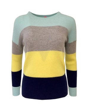 Cocoa Cashmere Flash Stripe Jumper