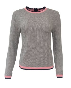 Cocoa Cashmere Grey Mango Midnight Jumper