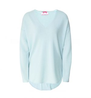 Cocoa Cashmere Cool Blue Zip Jumper
