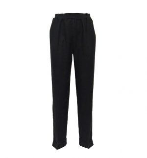 Rosso35 Black Linen Trousers N861P/6000/799