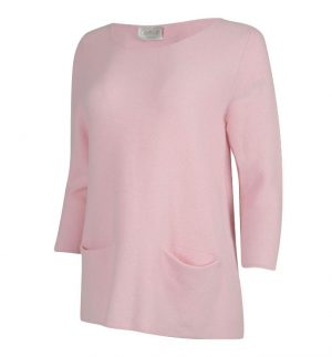 Caroline Cashmere Baby Pink Coco Top