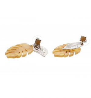 Nour London Gold Palm Leaf Earrings
