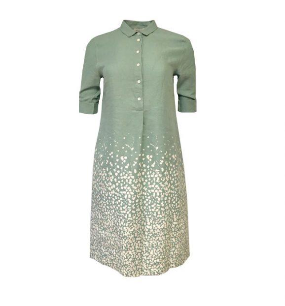 Rosso35 Grey/Green Spot Dress N1056V/U8039/ 25