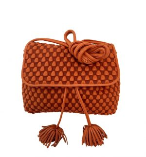 Tissa Fontaneda Amore Orange Nappa Bubble Bag