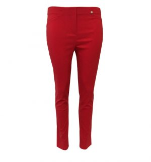 Robell Rose Cropped Trousers In Tangerine Red 51527-5499/40