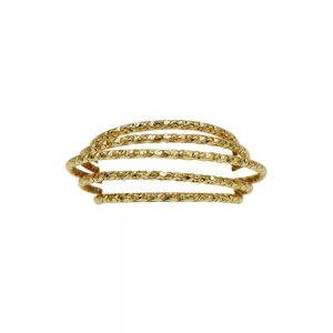 Dansk Smykkekunst Alyssa Multi Hoop Ring Gold