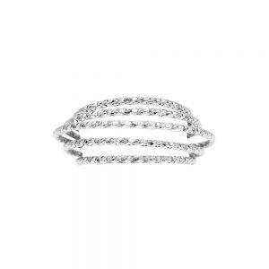 Dansk Smykkekunst Alyssa Multi Hoop Ring Silver