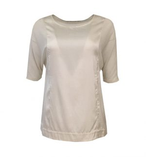 Transit Par Such Stretchy Silk Top in Cream CFDTRHR270-01