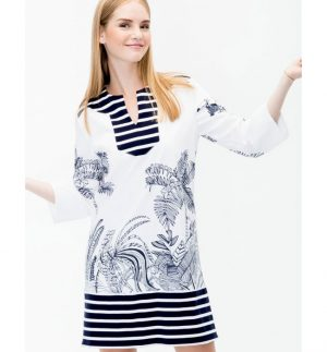 Vilagallo CLARISA HARAPAN PRINT Dress