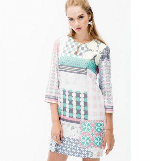 Vilagallo Tesa Manaba Print Dress