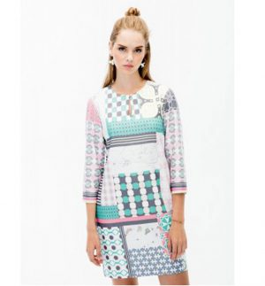 Vilagallo Tesa Manaba Print Dress VETTTS9029