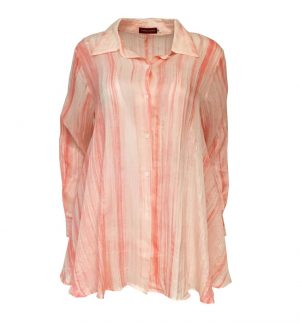 Bianco Levrin Coral & Cream Swing Shirt