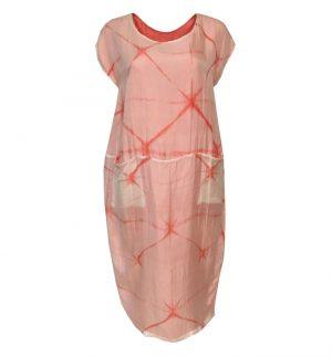 Bianco Levrin Coral & Cream Tie Dye Dress