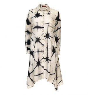 Bianco Levrin Tie Dye Roberta Black & White Tunic T323/ROBERTA