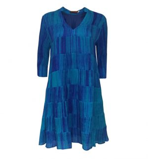 Bianco Levrin Cobalt Blue Panel Tunic Dress