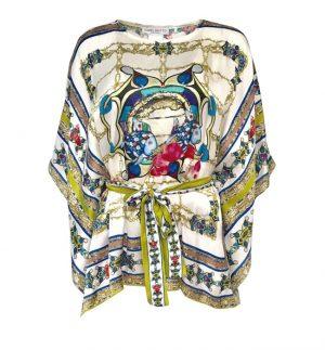 Isabel Giotto Kimo Top in Multicolour Print TG 833/234516