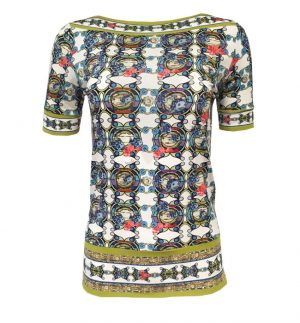 Isabel Giotto Eneide Top in Multicolour Print TG56/9990