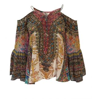 Inoa Florentina Gypsy Silk Top in Multicolour Print 1829