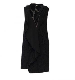 Crea Concept Asymmetrical Tunic Dress in Black 29014